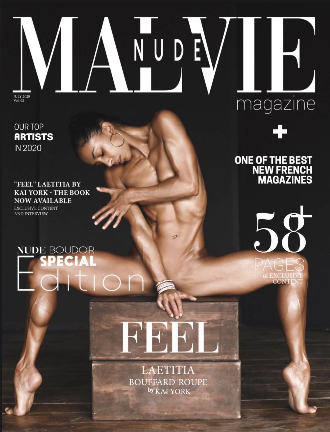 Malvie Nude Magazine July 2020 - Cover @kai.york.official