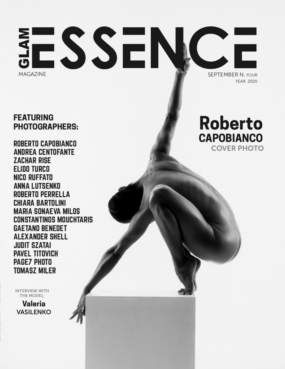 Glam Essence Magazine September 2020 - Cover by Roberto Capobianco